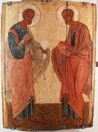 The apostles Peter and Paul. XV century.